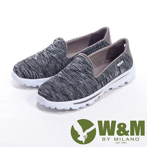 W&M (女)MODARE 超彈力舒適針織增高鞋女鞋-黑
