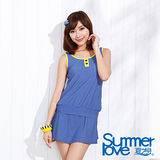 【夏之戀SUMMERLOVE】水玉點點長版三件式泳衣(E15725)