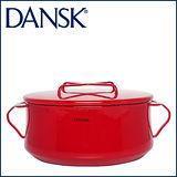 【DANSK】 琺瑯材質雙耳鍋-(紅色)-23cm