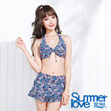 【SUMMERLOVE夏之戀】變形蟲比基尼三件式泳衣(E15729)