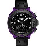 TISSOT T-RACE鋁合金多功能觸控錶-紫/42mm T0814209705705