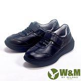 W&M (女)FIT系列 簡約氣墊增高休閒女鞋-黑