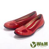 W&M (女)SOFIT系列 透氣簡約氣墊休閒女鞋-紅