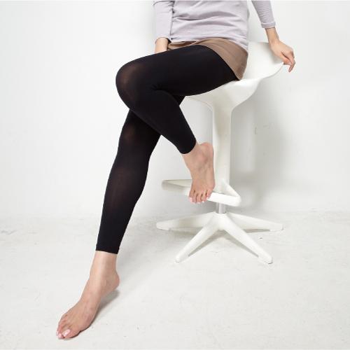 《MORINO摩力諾》遠紅外線保暖九分褲--黑色