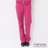 TOP GIRL-個性豹紋拼接風衣長褲 (俏桃紅)(品特)