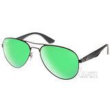 RayBan太陽眼鏡 經典飛官水銀鏡面款(綠-黑) #RB3523 0063R -59mm