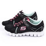 SKECHERS 中童 輕量緩衝透氣運動鞋81234LBKMT-黑