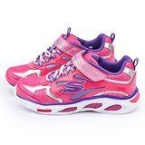 SKECHERS 中童 炫麗電燈運動鞋10477LHPPR-桃紫