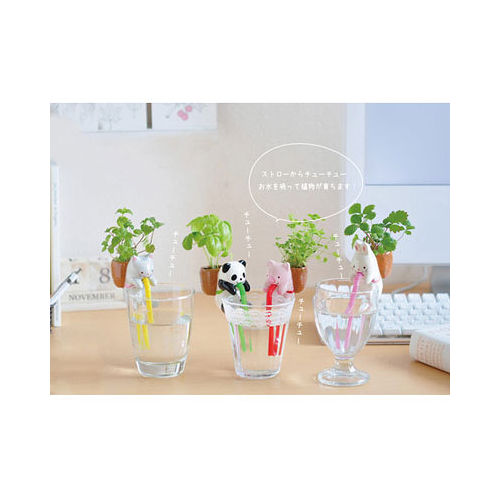 【PS Mall】動物喝水盆栽 桌面迷你綠植物_小兔 (J1447)