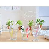 【PS Mall】動物喝水盆栽 桌面迷你綠植物 小貓 (J1447)