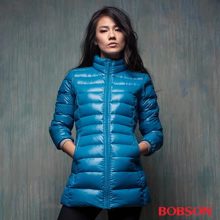 BOBSON  (女)輕量羽絨長版外套