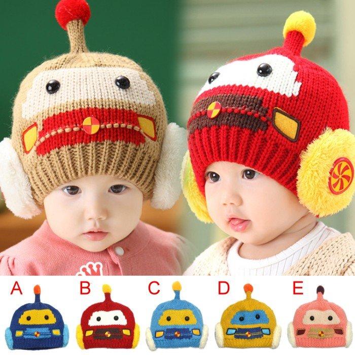 可愛《汽車造型款》毛線保暖帽~造型帽