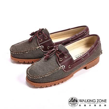 WALKING ZONE (女) 情侶款復刻拼接雷根鞋(咖色) -女鞋_(男女款尺寸皆有) -friDay購物