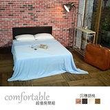 HAPPYHOME 貝絲納床片型3件房間組-床片+床底+床墊1WG5-21W+GA14-5四色可選-不含床頭櫃