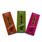 【Nippon Kodo 日本香堂】新每日香系列三入組(玫瑰、抹茶、芙香草)