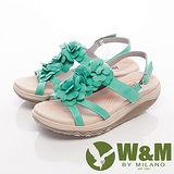 W&M (女)FIT 三花造型健走族健塑鞋扣環女鞋-綠