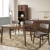 【日本直人木業】WOOD北歐生活餐桌椅(1桌4椅)