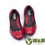 W&M (女)SOFIT 科技纖維布料舒適透氣彈性鬆緊帶健塑女鞋-紅