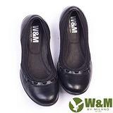 W&M (女)SOFIT 科技纖維布料舒適透氣彈性鬆緊帶健塑女鞋-黑