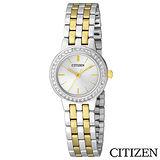 CITIZEN星辰 典藏金色元素女仕腕錶 EJ6104-51P