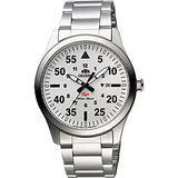 ORIENT 東方錶 SP 系列 飛行運動石英錶-銀/42mm FUNG2002W