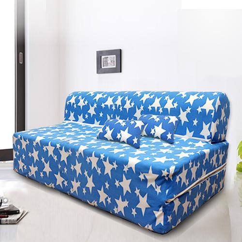 ~KOTAS~珊瑚絨彈簧沙發床~雙人  送珊瑚絨抱枕X2