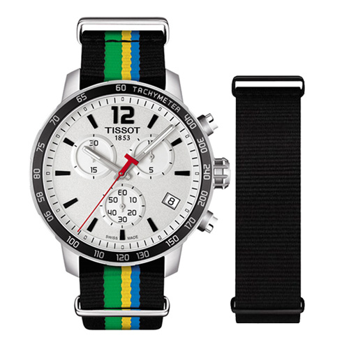 天梭 TISSOT Quickster 時捷系列巴庫特殊計時腕錶 T0954171703702