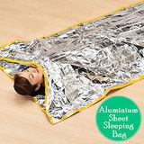 鋁箔防寒防風防雨簡易睡袋/睡毯/寢袋
