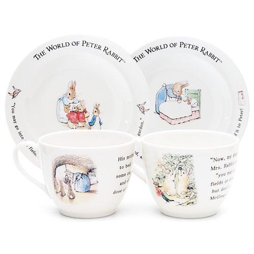 【クロワッサン科羅沙】Peter Rabbit~ 經典比得兔花茶杯盤組 (家族)