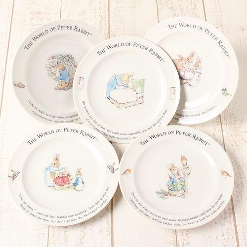 【クロワッサン科羅沙】Peter Rabbit~ 經典比得兔 PI 餐盤組5入(家族)
