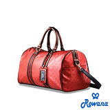 Rowana 經典織帶休閒旅行袋 (紅色)