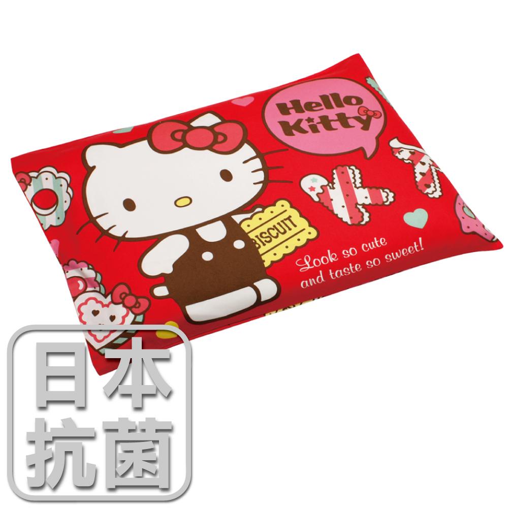 【鴻宇HongYew】兒童標準乳膠枕-Hello Kitty繽紛甜心(紅) HK2002R-L