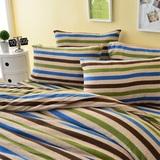 Pure One 超保暖搖粒絨-樂活時尚-雙人四件式床包被套組