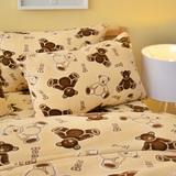 Pure One 超保暖搖粒絨-寶貝熊-雙人四件式床包被套組
