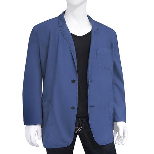 BURBERRY 單排釦紳士長版外套(XXL號)-藍色