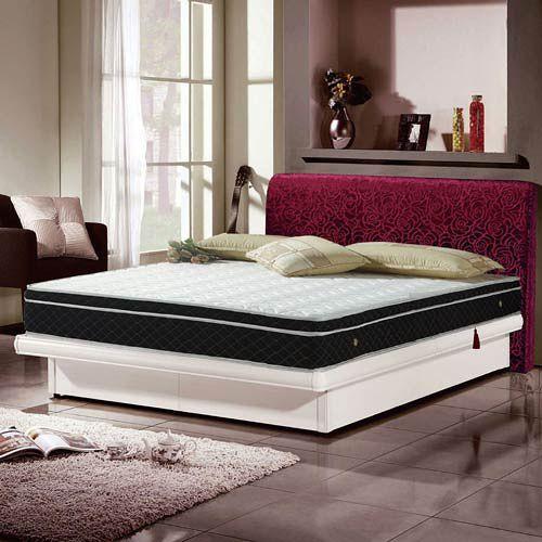 【愛麗娜】雲柔抗菌防蹣式備長碳三線獨立筒床墊(雙人加大)6x6.2尺
