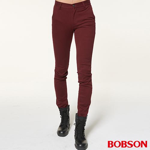 BOBSON 男款低腰彈性直筒褲(1795-13)