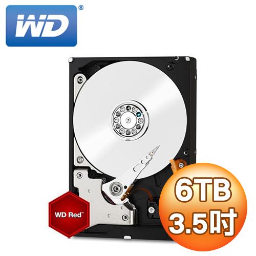 WD紅標6TB 3.5吋 NAS硬碟