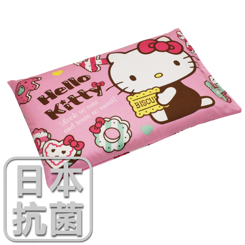 【鴻宇HongYew】兒童標準乳膠枕-Hello Kitty繽紛甜心(粉) HK2002P-R