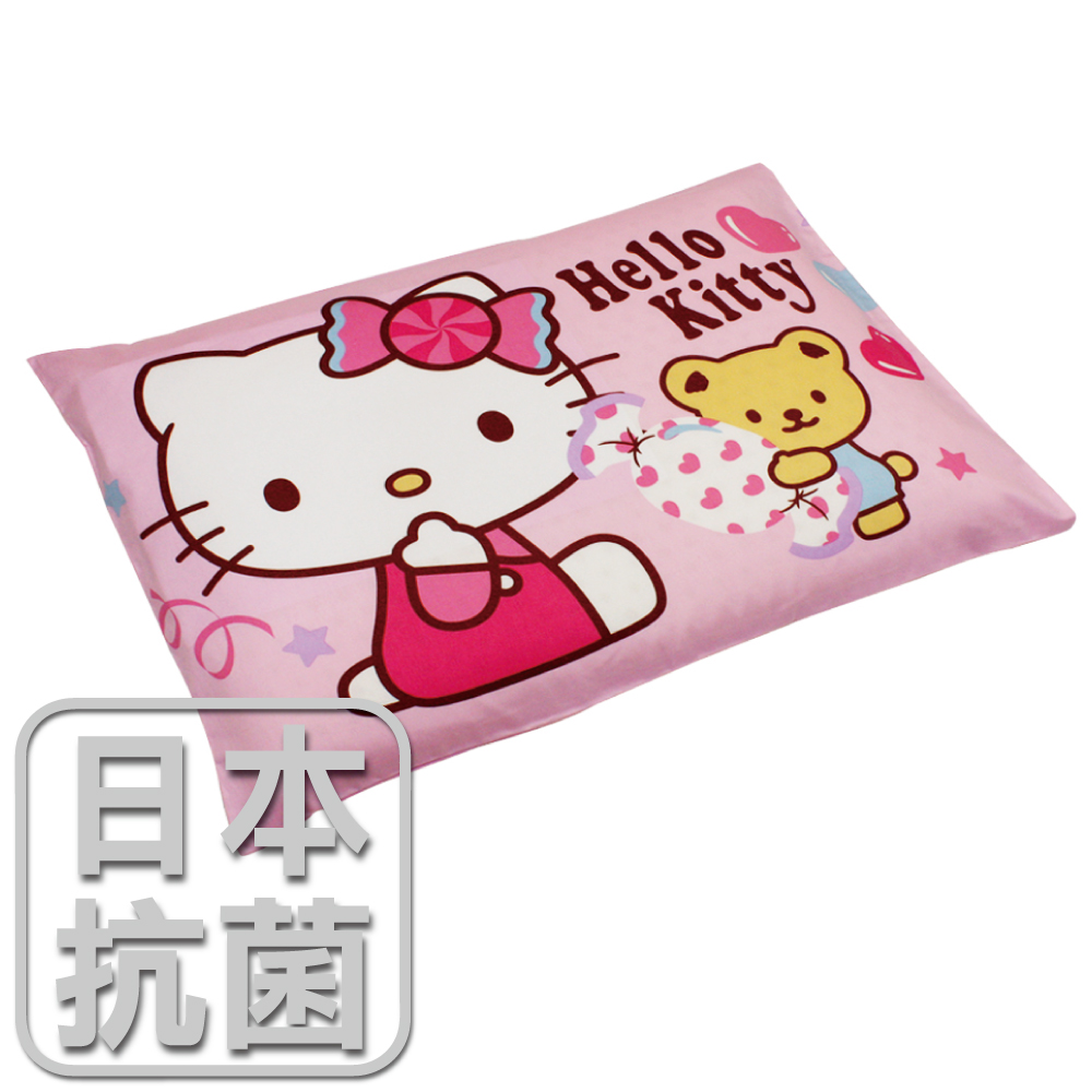 【鴻宇HongYew】兒童標準乳膠枕-Hello Kitty我的甜蜜夥伴(粉) HK2003P-L