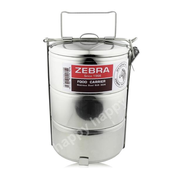 斑馬牌不銹鋼多層提鍋便當盒12cm~3層