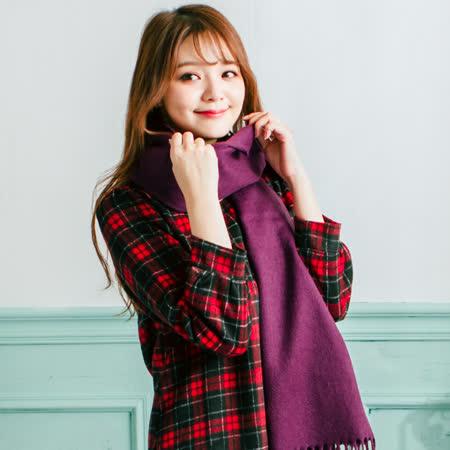 Wonderland 厚織純色厚羊毛披肩