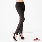 (女)BRAPPERS 女款 新美尻系列-女用彈性九分褲-黑