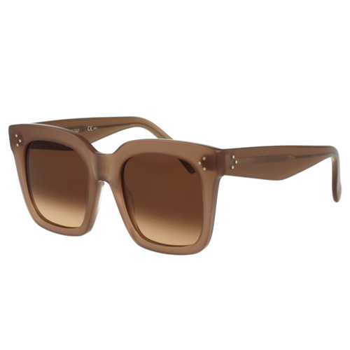 CELINE- 時尚方框太陽眼鏡(膚色)