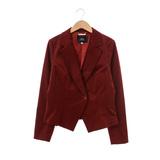 GINKOO 絨面基本款西裝外套-紅