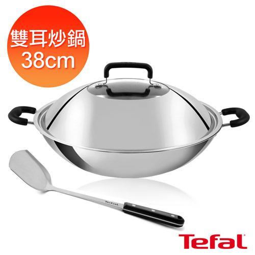 Tefal法國特福 多層鋼38CM雙耳炒鍋(附鍋蓋+鍋鏟) C7809644