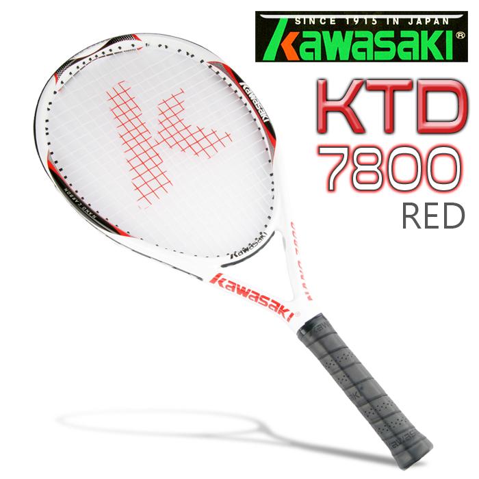 Kawasaki KTD7800 高強度碳纖維穿線網球拍(紅)