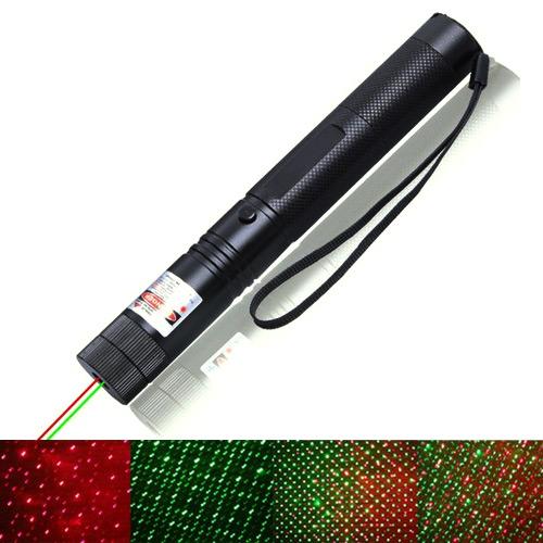 READY滿天星蓋鋁合金紅綠光雙激光雷射筆(附充電池組)