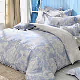 義大利La Belle《蘭陵世紀》加大八件式防蹣抗菌舖棉兩用被床罩組
