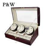 【P&W手錶自動上鍊盒】【木質鋼琴烤漆】 6+7支裝 WATCH WINDER 動力儲存盒 機械錶專用